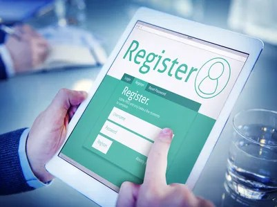 Man Having an Online Registration