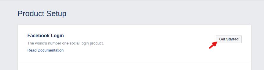 Facebook login get started