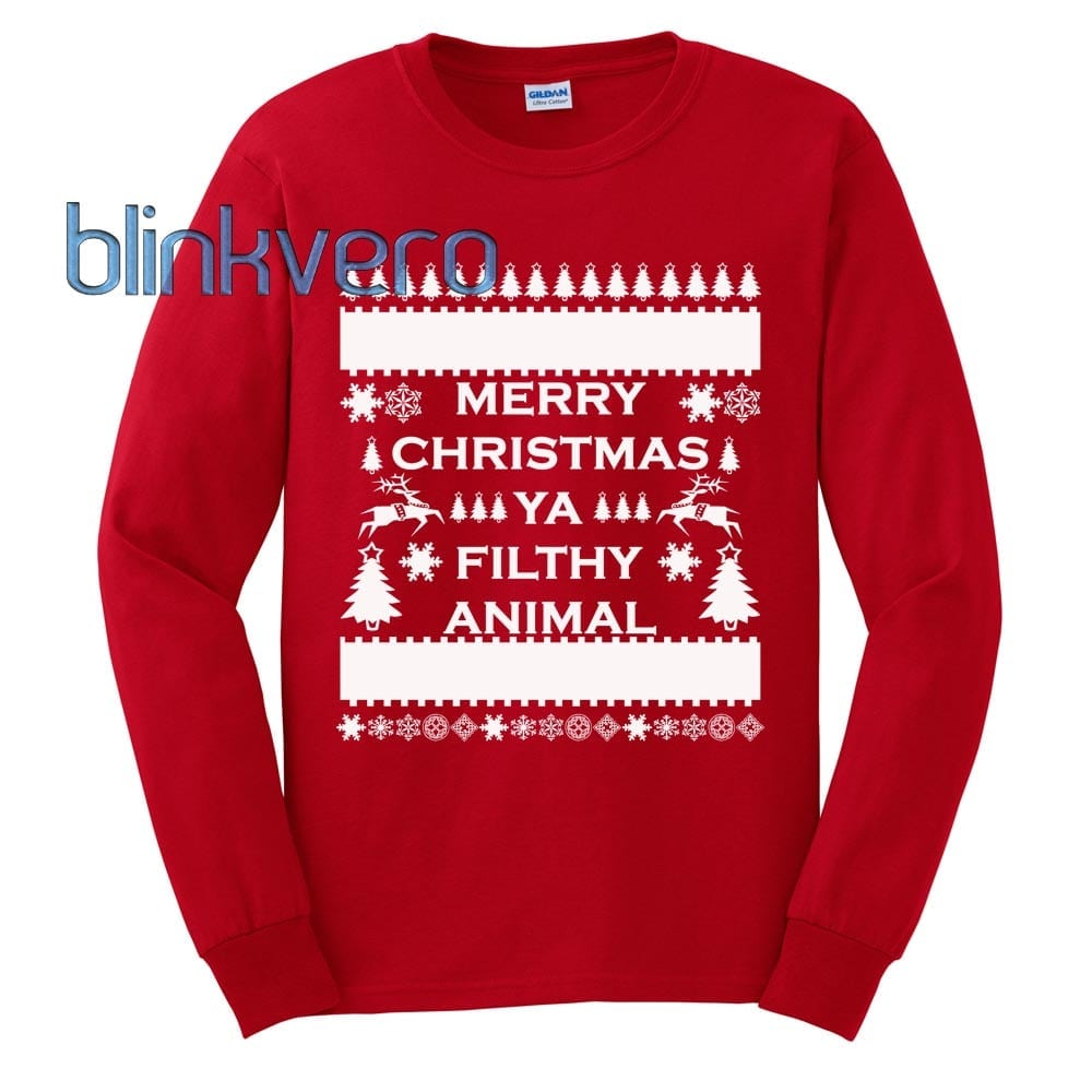 merry christmas you filthy animal sweater christmas - Merry Christmas You Filthy Animal