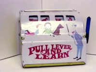 Marx, Pull Lever and Learn Tin Toy