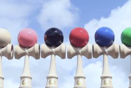 世界最長連續玩劍玉的列隊