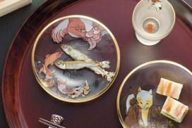 超美! 江戶時代貓咪浮世繪玻璃碟