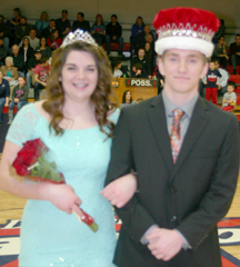 Emily Steuwe and Josh Papworth, Britton Deerfield Winterfest Queen and King