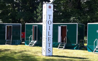 Real loos across the festival site