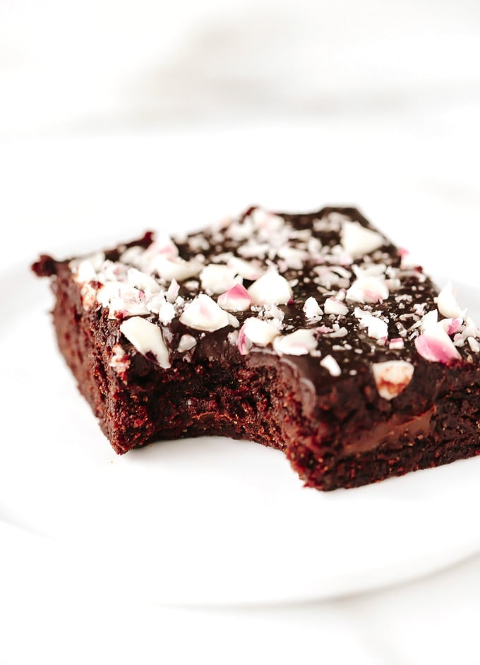 Vegan Mint Chocolate Chunk Brownies