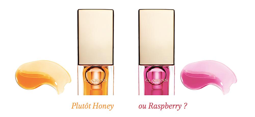 Clarins huile confort lèvres honey raspberry