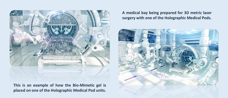 Pods médicaux holographiques: BlissfulVisions.com