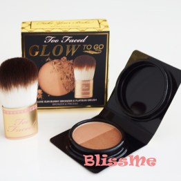 Too Faced Glow To Go Powder mit Pinsel Bronzer Bronzing Set