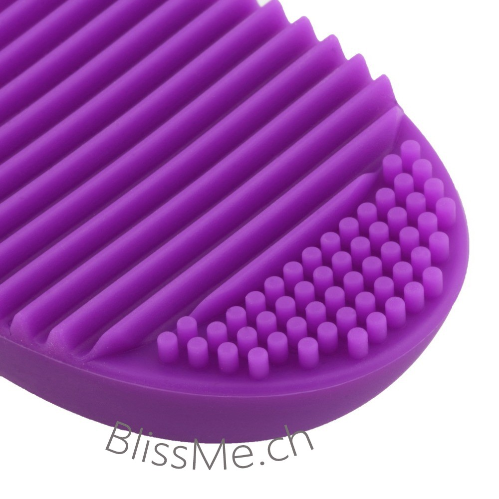 Brush Egg Cleaner Violet Blissme Reinigungshilfe Fr Make Up Pinsel Pinceau