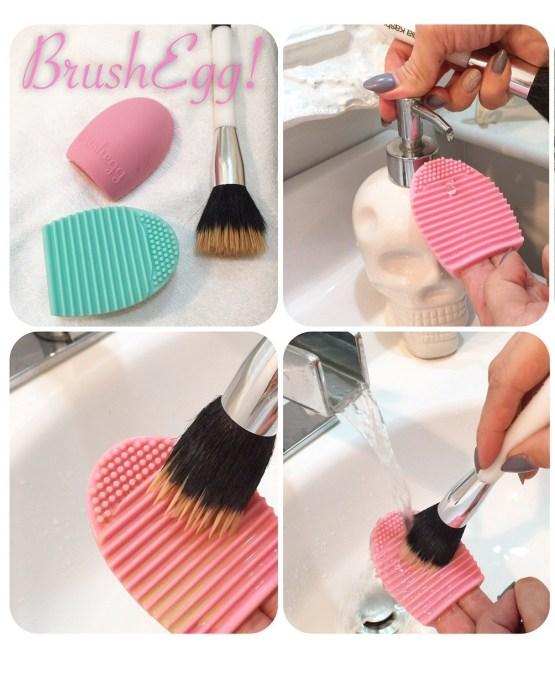 Brush Egg Reinigungshilfe für Make-Up Pinsel / Pinceau