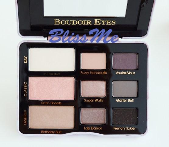 Too Faced Boudoir Eyes ~ Lidschatten Sofe & Sexy Farben Palette