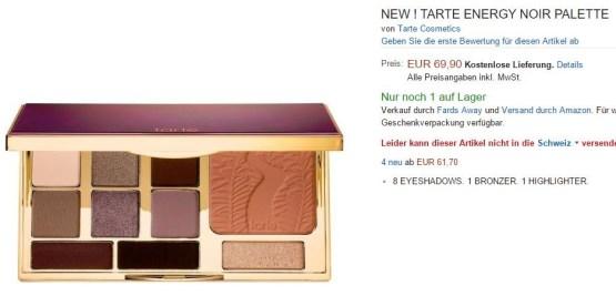 Tarte Energy Noir Natural Clay Eyes Palette
