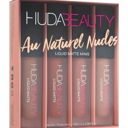 "Huda Beauty Liquid Mini Lip Set ""The Au Naturel Nudes Edition"""