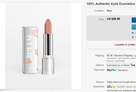 "Kylie Cosmetics Crème Lipstick ""Truffle"""