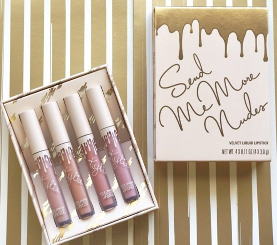 Kylie Send Me More Nudes Velvet Liquid Lipstick Set
