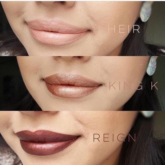 Kylie Lip Metal Matte Lipstick by Kylie Jenner King K, Heir & Reign