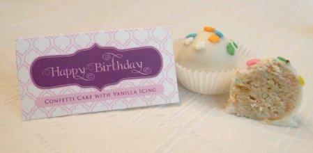 Cake Balls - Birthday Cake