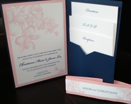 Wedding - Custom Pocketfold Invitation