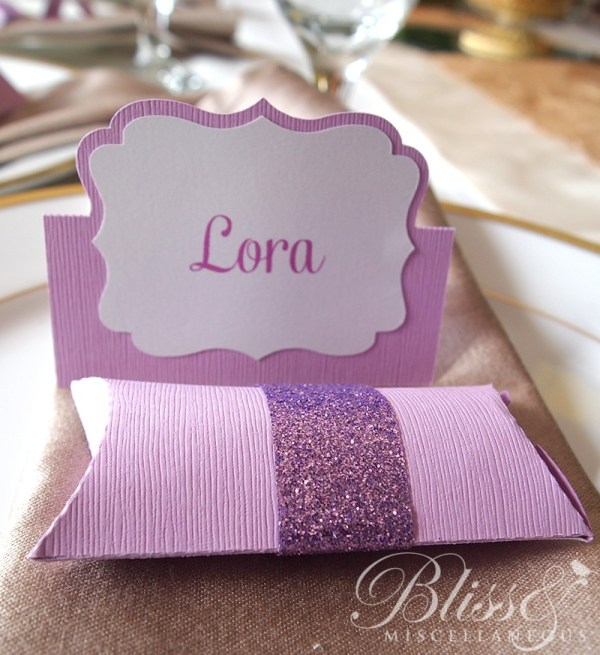 Purple Namecards & Pillowboxes