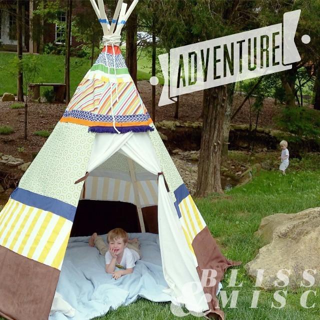 #Exploring at home #nature #teepee #playtime #summerfun #hobbsboys