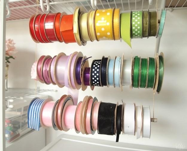 Ribbon Dowel Storage