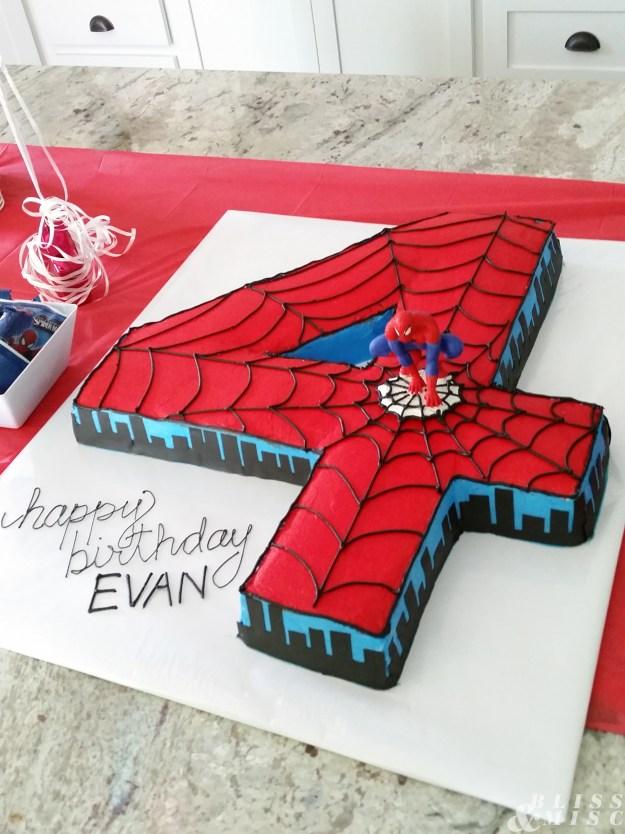 Fourth Birthday Spiderman Cake