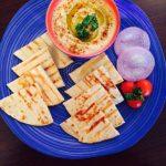 Grilled Pita, Pita with humus