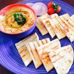 Pita with Humus, Grilled Pita
