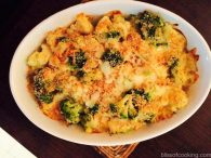 Broccoli & Cauliflower Gratin, Baked Broccoli & Cauliflower