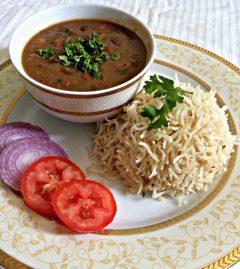 Rajma Rice, Red bean gravy with pilaf, Rajma with basmati rice