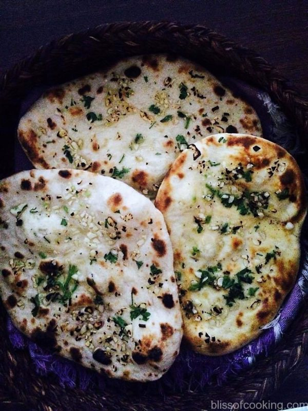 Garlic Naan, Flat bread, Indian Flat Bread