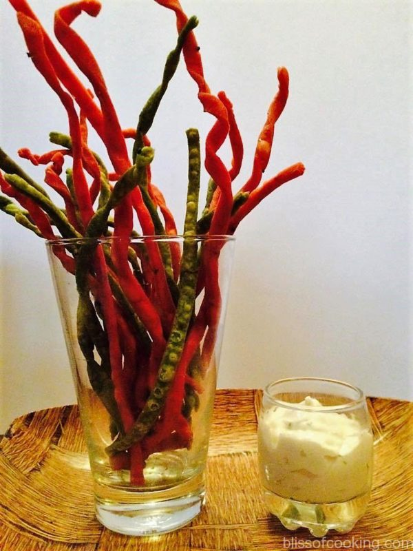 Spinach & Beetroot sticks, Nimki, Namakpara, Salty & Crispy snack