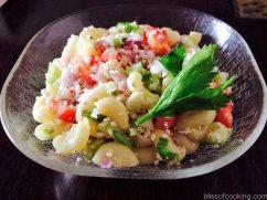Macaroni & Coconut Salad, Healthy wholesome salad