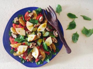Fruit & Vegetable Salad with Honey Mustard Dressing