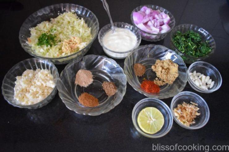 Air Fried Hariyali Cabbage Kofta