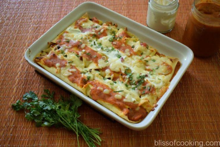 Cheesy Baked Vegetable Enchiladas