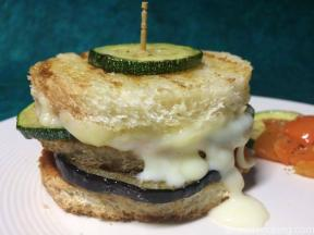 Grilled Zucchini Eggplant Sandwich