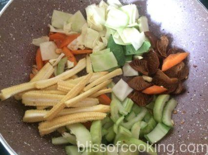 Hoisin Vegetables With Pan Fried Noddles