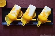 Lemon Yogurt And Orange Popsicle
