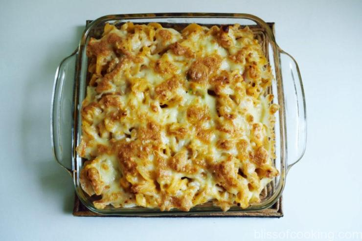 Baked Pasta in Bechamel and Tomato Sauce