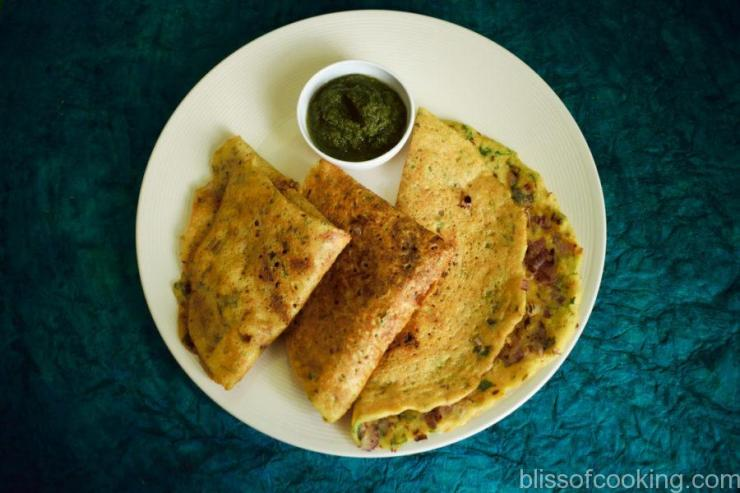 Moong Dal Chilla (Lentil Pancake) - Bliss Of Cooking