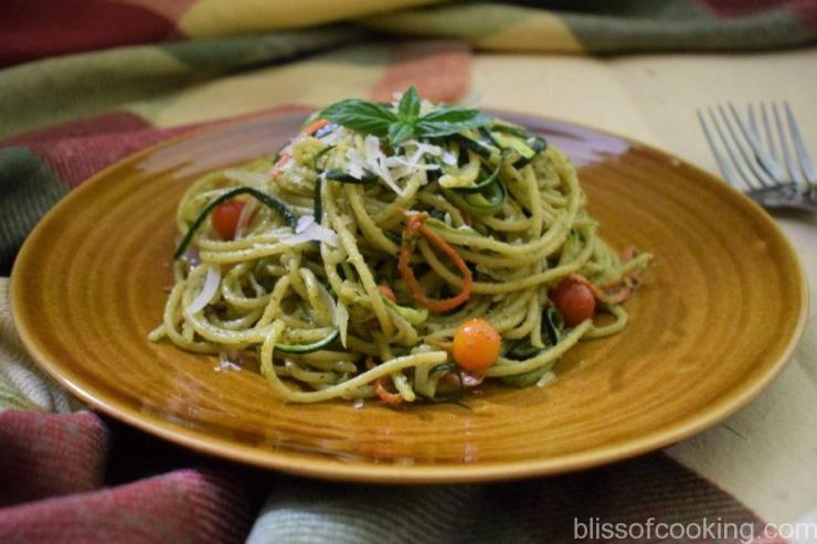 Spaghetti In Pesto Sauce