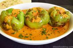 Stuffed Capsicum in Tomato Gravy
