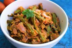 Ajwaini Tamatari Bhindi, Okra In Tomato Carom Sauce