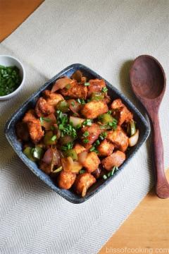 Bun Manchurian, Pav in Manchurian Sauce