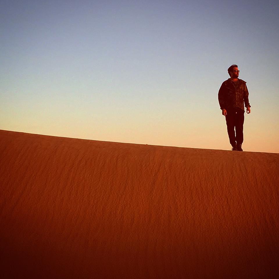 DJ Tennis in Sand Dunes