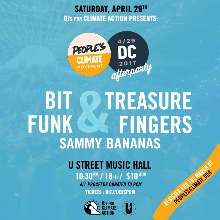 People's Climate March Afterparty at U Street Music Hall April 29