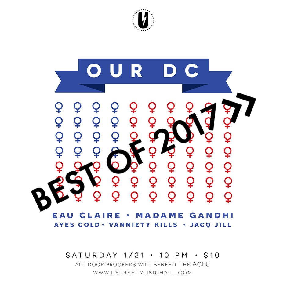 Flyer for Our DC Event at U Street Music Hall