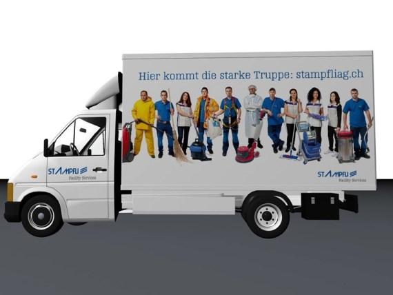 Fahrzeugbeschriftung für Stampfli Reinigungen-3200