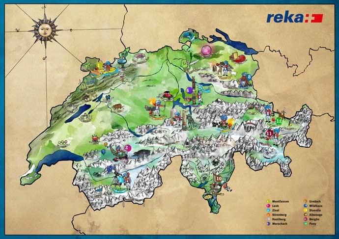 Kindermarketing Karte Reka Werbeagentur Blitz & Donner Bern